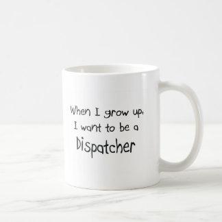Cuando me crezco quiera ser un despachador taza de café