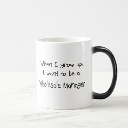 Cuando me crezco quiera ser un encargado al por ma taza