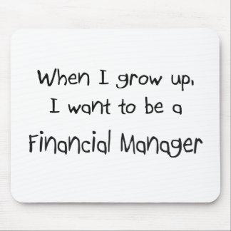 Cuando me crezco quiera ser un encargado financier tapetes de raton