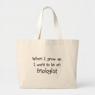 Cuando me crezco quiera ser un Enologist Bolsa Tela Grande