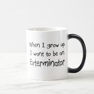 Cuando me crezco quiera ser un Exterminator Tazas De Café