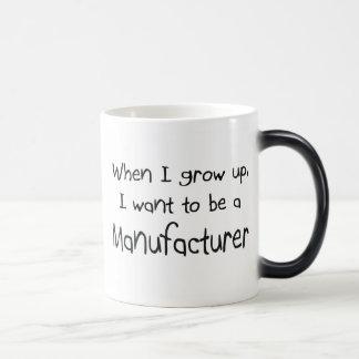 Cuando me crezco quiera ser un fabricante taza de café