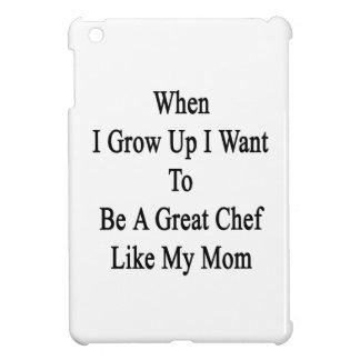 Cuando me crezco quiera ser un gran cocinero como