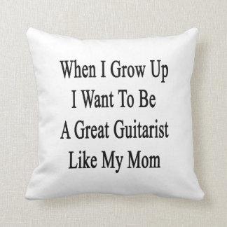 Cuando me crezco quiera ser un gran guitarrista almohadas