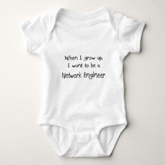 Cuando me crezco quiera ser un ingeniero de la red playeras