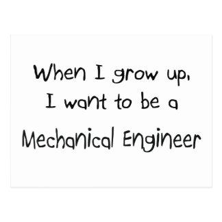 Cuando me crezco quiera ser un ingeniero industria tarjetas postales