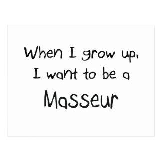 Cuando me crezco quiera ser un masajista postal