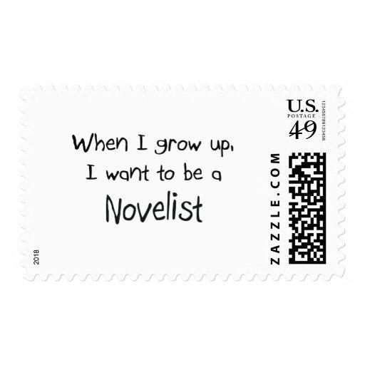 Cuando me crezco quiera ser un novelista sellos