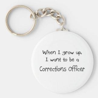 Cuando me crezco quiera ser un oficial de llavero redondo tipo pin