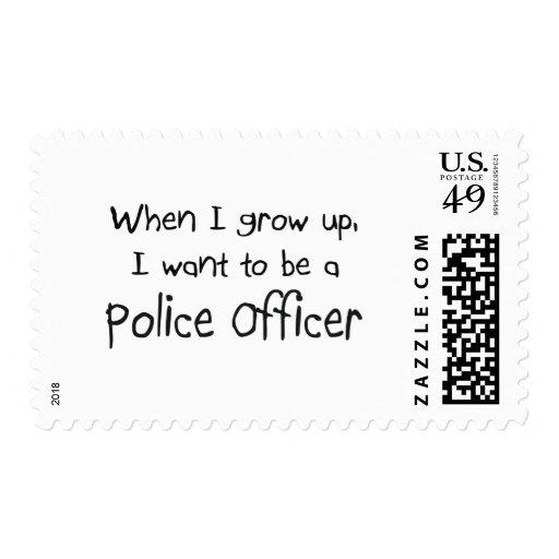 Cuando me crezco quiera ser un oficial de policía sello