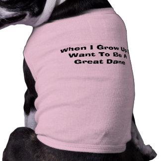 Cuando me crezco quiera ser un perro de great dane playera sin mangas para perro