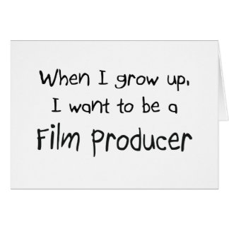 Cuando me crezco quiera ser un productor cinematog tarjeta de felicitación