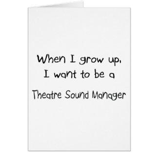 Cuando me crezco quiera ser un sonido del teatro m tarjeton