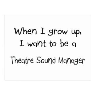 Cuando me crezco quiera ser un sonido del teatro postal
