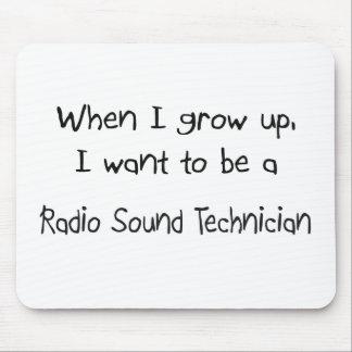 Cuando me crezco quiera ser un Technici sano de ra Tapetes De Ratones