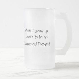 Cuando me crezco quiera ser un Therap profesional Taza Cristal Mate