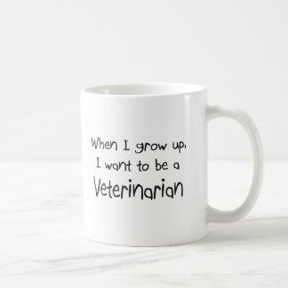 Cuando me crezco quiera ser un veterinario taza de café