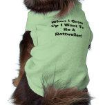 Cuando me crezco quiera ser una camisa del perro d camisetas de perro