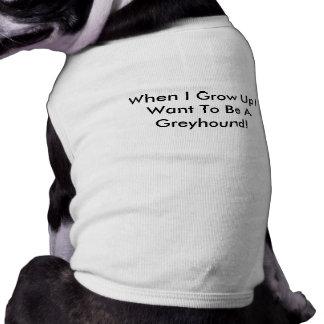 Cuando me crezco quiera ser una camiseta del perro playera sin mangas para perro