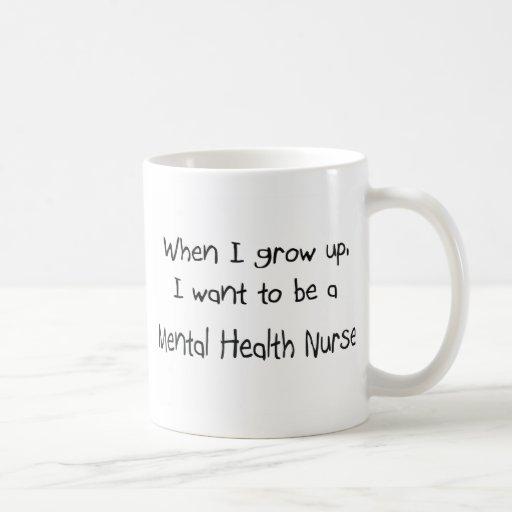 Cuando me crezco quiera ser una enfermera de salud taza de café