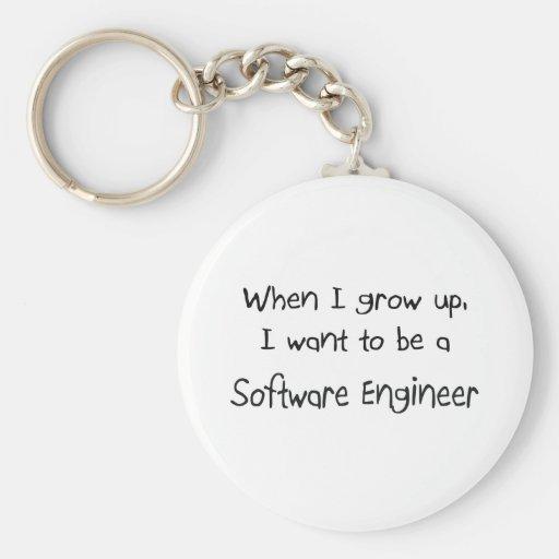 Cuando me crezco quiera ser una Software Engineer Llaveros