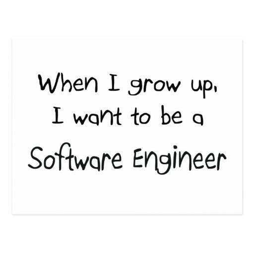 Cuando me crezco quiera ser una Software Engineer Tarjetas Postales