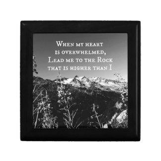 Cuando mi corazón es verso abrumado de la biblia cajas de regalo