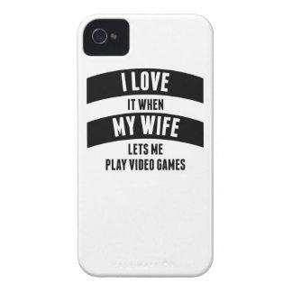 Cuando mi esposa me deja jugar a los videojuegos Case-Mate iPhone 4 funda
