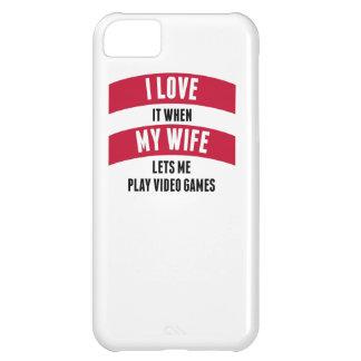 Cuando mi esposa me deja jugar a los videojuegos funda para iPhone 5C