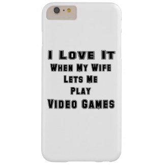 Cuando mi esposa me deja jugar a los videojuegos funda para iPhone 6 plus barely there