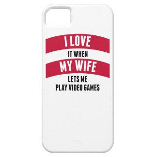 Cuando mi esposa me deja jugar a los videojuegos iPhone 5 carcasa