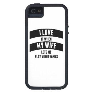 Cuando mi esposa me deja jugar a los videojuegos iPhone 5 funda