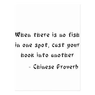 Cuando no hay pescados en un punto postales