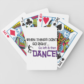Cuando no van las cosas a la derecha… baraja de cartas