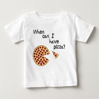 ¿Cuándo puedo tener pizza? Camisetas