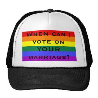¿Cuándo puedo votar sobre SU boda? Gorro De Camionero