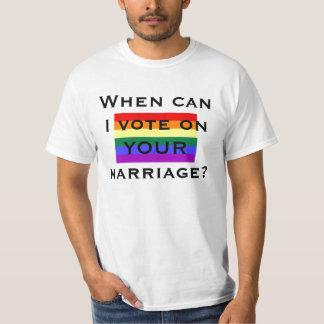 ¿Cuándo puedo votar sobre SU boda? Playera