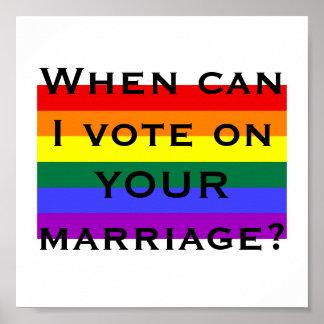 ¿Cuándo puedo votar sobre SU boda? Póster