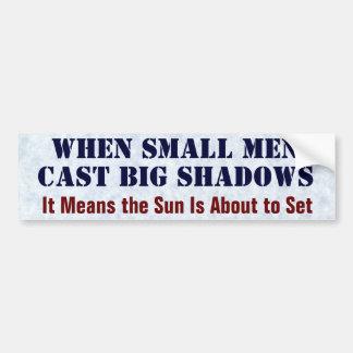 Cuando son pequeños los hombres echaron sombras pegatina para auto