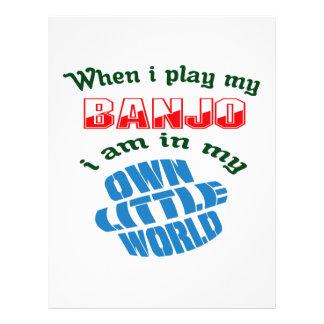 Cuando toco mi banjo plantillas de membrete
