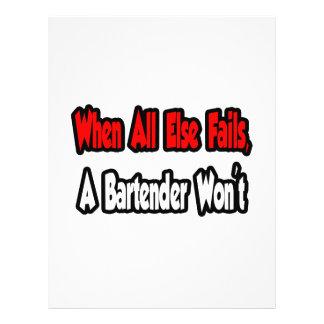 Cuando todo falla, un camarero no tarjeta publicitaria