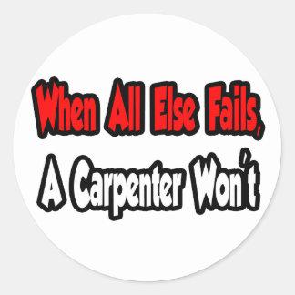Cuando todo falla, un carpintero no pegatina redonda