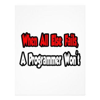Cuando todo falla, un programador no tarjetas publicitarias