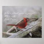 Cuando un cardenal aparece en su yarda…. póster