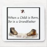 Cuando un niño es… abuelo nacido tapetes de ratones