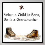 Cuando un niño nace, está tan una abuela impresiones