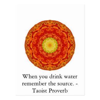Cuando usted bebe el agua recuerde la fuente. - tarjetas postales