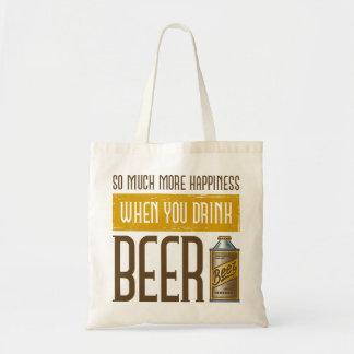 Cuando usted bebe la cerveza bolsas