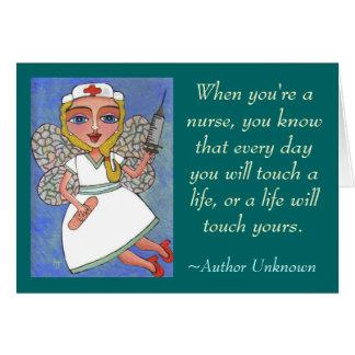 Cuando usted es enfermera… - tarjeta de felicitaci
