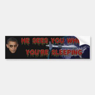Cuando usted está durmiendo - pegatina para el par etiqueta de parachoque